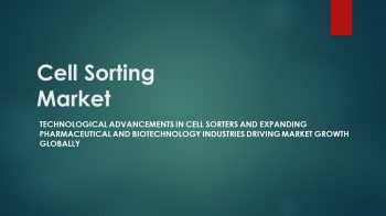 Cell Sorting Market | Increasing Adoption In Research Application