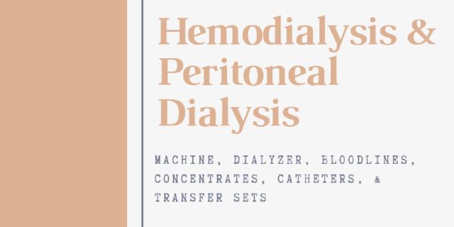 Hemodialysis& Peritoneal Dialysis Market