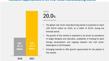 Viral Vector Manufacturing Market Worth $815.8 Million by 2023 – Exclusive Report by MarketsandMarkets™